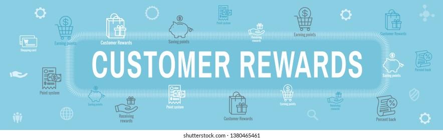 Customer Rewards Icon Set & Web Header Banner Design