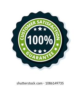 Customer Satisfaction Guarantee label illustration