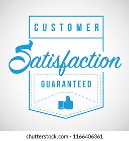 Customer Satisfaction guaranteed Modern stamp message design isolated over a white background