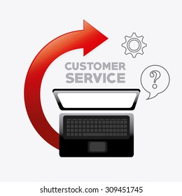 Customer service design, vector illustration eps 10.