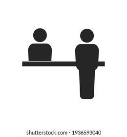 Customer service desk icon. Vector illustration