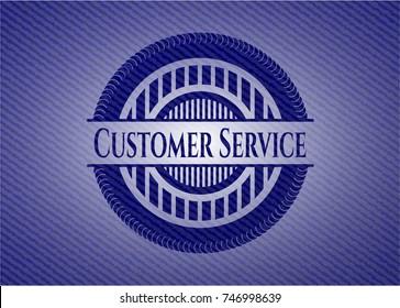 Customer Service emblem with jean texture