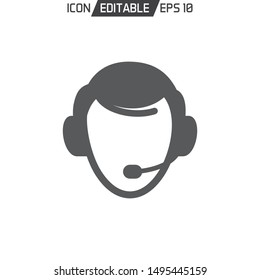 Customer Service flat Icon template isolated. Vector illustration