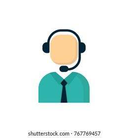customer service flat icon vector