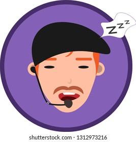 Customer Service hotline Assistant, a 24Hour operator  man, offline.