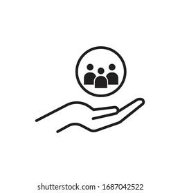 customer service icon design isolated on white background