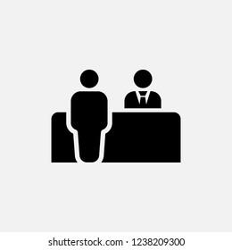 Customer service icon. Reception symbol. Flat design. Stock - Vector illustration