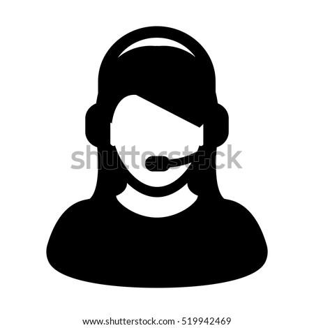 15ca5aead2 Customer Service Icon User Headphone Vector Stock Vector (Royalty ...