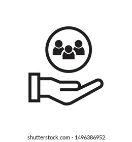 customer service icon vector illustration. flat design