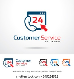 Customer Service Logo Template Design Vector