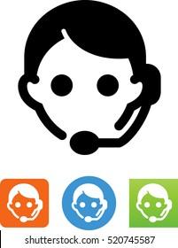 Customer service rep icon.