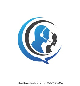 customer service support icon logo