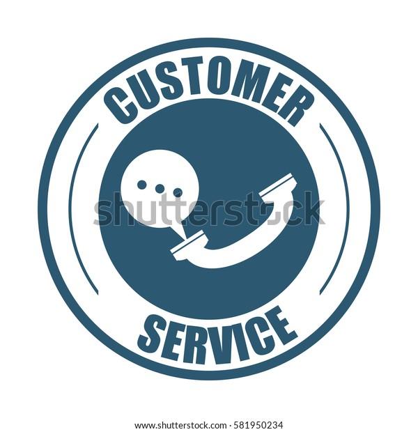 customer service telephone bubble speech