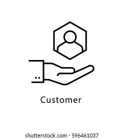 Customer Vector Line Icon