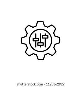 customisation icon, vector illustration