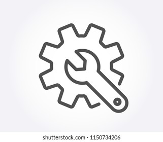 Customisation line icon. Settings or editing sign. Repair symbol. Quality design element. Classic style. Editable stroke. Vector