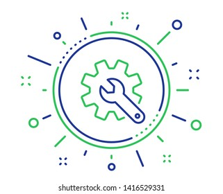 Customisation line icon. Settings or editing sign. Repair symbol. Quality design elements. Technology customisation button. Editable stroke. Vector