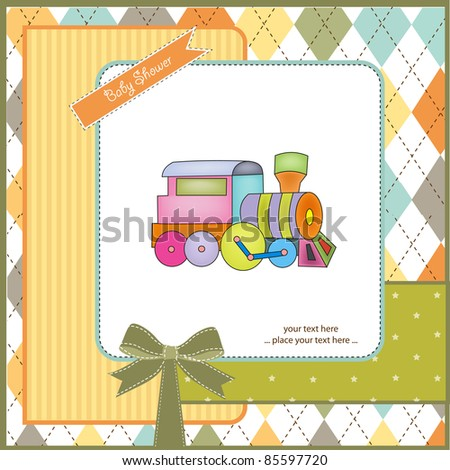 Customizable Birthday Greeting Card With Train