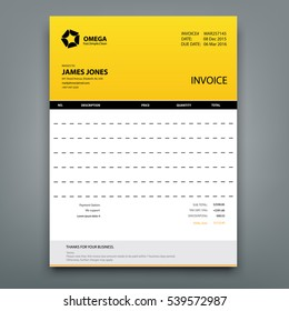 Invoice Template Images Stock Photos Vectors Off Shutterstock - Invoice template design