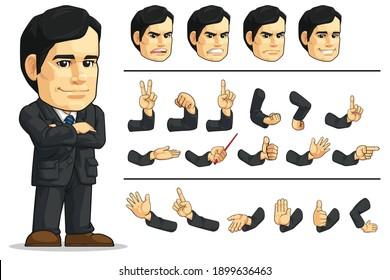 Customizable Mascot Businessman Company Executive CEO