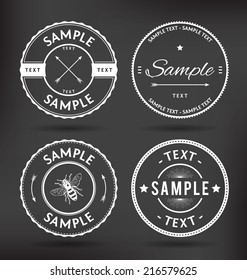 Customizable Retro Vintage Badges Vector Elements