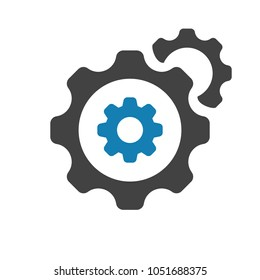 Customize icon with settings sign. Settings icon and customize, setup, manage, process, gears symbol. Customize, icon, setup, configuration, set, sign, wheel, black, business, clock, cog