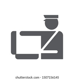 Customs office luggage control icon isolated on white background. Check luggage symbol modern, simple, vector, icon for website design, mobile app, ui. Vector Illustration