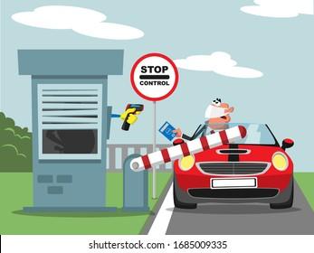 Zoll- und Temperaturkontrolle im Straßenverkehr
