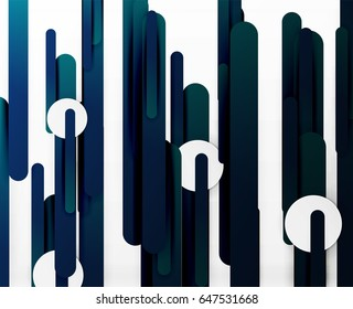 Cut 3d paper color straight lines vector abstract background