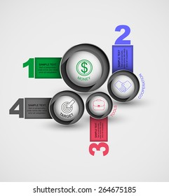 cut a circle with the data vector number infographics element web design