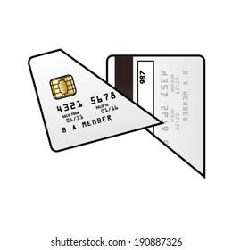 A cut up credit card.