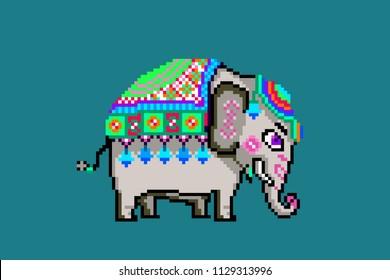 Elephant Pixel Images Stock Photos Vectors Shutterstock