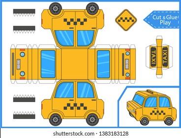 Imágenes, fotos de stock y vectores sobre Paper Model Car