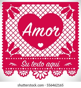 Cut Out Paper Composition   Love - Spanish text