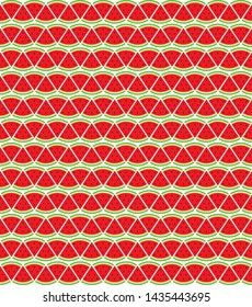 cut slice of red watermelon pattern background design
