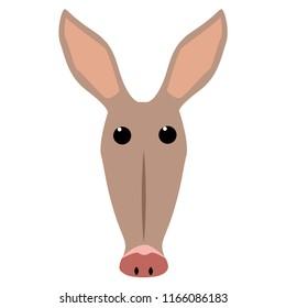 cute aardvark vector