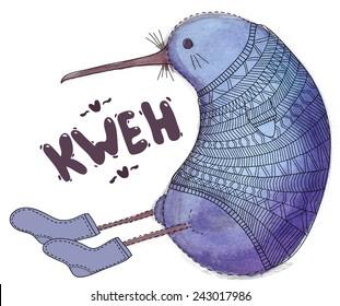 Kiwi Bird Drawing Images Stock Photos Vectors Shutterstock