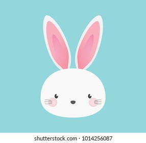 Cute Adorable Easter Bunny Rabbit Animal Illustration Background Vector Design