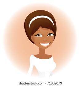 Cute african woman (vector version)