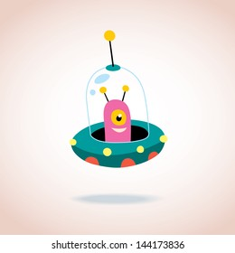 cute alien character