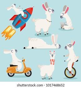 Cute alpaca Cartoon  collection