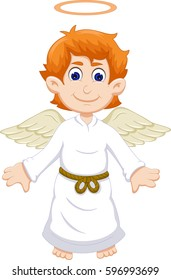 cute angel cartoon flying