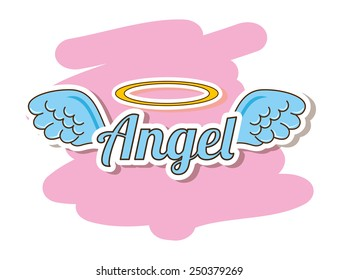 cute angel design, vector illustration eps10 graphic