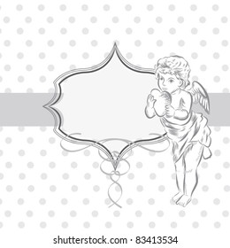 cute angel frame
