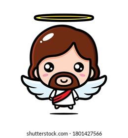 cute angel jesus christ vector design