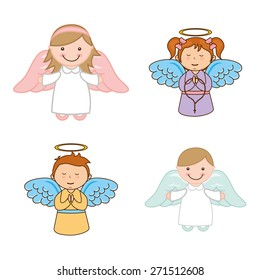 cute angels design, vector illustration eps10 graphic