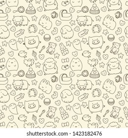 cute animal pattern is perfect for baby textiles and gift wrapping
