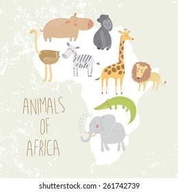 zebras Double Animal,Stunning Item Elephants Ethnic Animal Ornament Giraffes