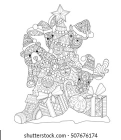 Christmas Tree Tattoo Images Stock Photos Vectors Shutterstock