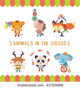 Cute Animals In The Circus Second Set